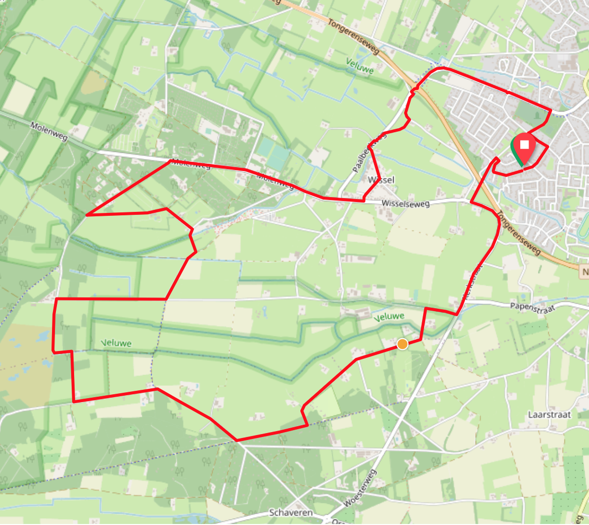 Wisselse veen route