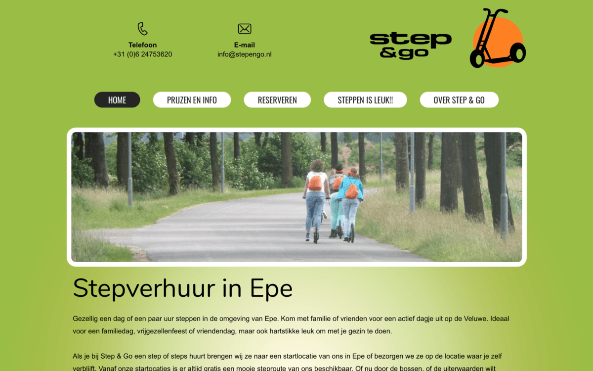 Oude website Step & Go